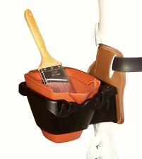 Buddy System Belt attached Paint Bucket Holder w/1 Quart Dripless Paint Bucket