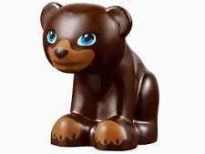 LEGO NEW DARK BROWN BEAR CUB Baby Zoo Toy Animal Minifigure Figure Minifig