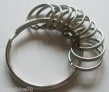 1 x 58mm Jailers Ring + 10 x 25mm Split Rings Strong Durable Key Holder JR2510