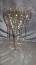 Crackle Glass Crystal Toasting Champagne Flutes Glasses Tulip Shape 6 6oz tall