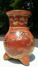 Pre-Columbian Ancient MAYAN Polychrome painted Pottery Vessel From El Salvador