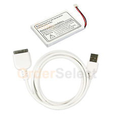 Fenzer Battery+USB Data Sync Cable Cord for Apple iPod 4th Generation 20GB 30GB