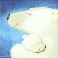 4x Single Table Party Paper Napkins for Decoupage Decopatch Craft Polar Bear