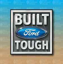 "Built FORD Tough Truck Diesel Gas 6"" Race Off Road Custom Vinyl Decal Sticker"