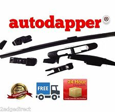 "AUTODAPPER (FISCHER) AERO FLAT REAR WIPER BLADES MULTI-FIT SIZE 13"" REPLACEMENT"