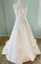 Sale! NWTS Edens Bridal A-Line  Ivory Satin  gown Style # 2222 Size L(10-12)