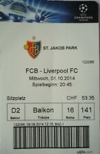 TICKET UEFA CL 2014/15 FC Basel - Liverpool FC