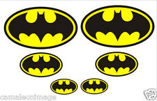 BATMAN 6 Pack Decal Sticker for Laptop, Truck, Car, Motorcycle, Helmet, Iphone..