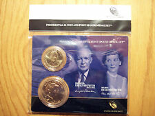2015 Dwight Eisenhower Presidential One Dollar Coin First Spouse Medal Set(JP6)1