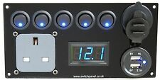Ford Transit Switch Panel/ Hook Up/USB 12V/240V Control Charging Unit