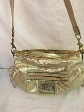 COACH POPPY Gold Shoulder Bag Crossbody Hobo Purse