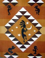 Kokopelli Southwest Native 50x60 Polar Fleece Throw Blanket