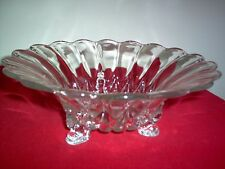 "New Martinsville Janice Crystal 10.5"" Footed Centerpiece Bowl - EXC - NICE!"