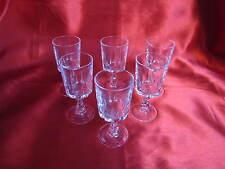 6 verres à liqueur en cristal D' ARQUES service LOUVRE no 2