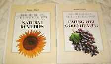 Reader's Digest Natural Remedies & Eating for Good Health Lot set of 2