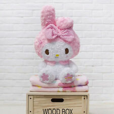 New Kawaii Bowknot My Melody Kitty Doll Plush Toy Soft Blanket Cos Xmas Gift