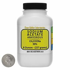 Sodium Acetate Anhydrous [CH3COONa] 99% ACS Grade Powder 8 Oz in a Bottle USA