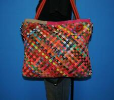 AMERILEATHER X-Large Multi-Color Woven Convertible Cross-Body Tote Purse Bag