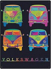 Volkswagen Campers In Neon Colours metal sign  400mm x 300mm (rh)