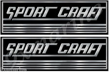 Two Sport Craft Vinyl Classic Decals 10 Inches long each