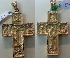 BONITA CRUZ BIZANTINA en Oro AMARILLO  de 18 ktes. DOBLE CARA. Peso 19,20 gr