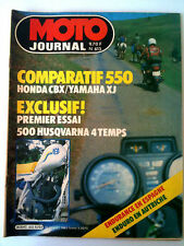 N°613 MOTO JOURNAL Comparatif 550 Honda CBX/Yamaha XJ