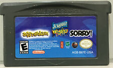 3 GAMES IN 1 - AGGRAVATION SCRABBLE JUNIOR SORRY! GAMEBOY ADVANCE GAME - GBA