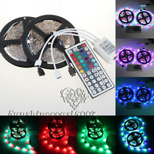 10M 600LED 3528 SMD 2X5M 300LEDs RGB LED Light Strip+44 Key IR Remote Controller