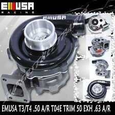 BLACK EMUSA T3/T4 Hybrid Turbo Charger .50 A/R Compressor .63 A/R Turbine