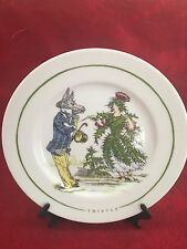The Monkey And The Peddler Liz Ross Grandville Thistle Plate 8.5 in diameter