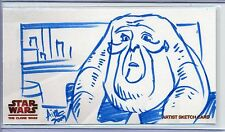 """Topps STAR WARS CLONE WARS Widevision SKETCH by IRMA """"AIMO"""" AHMED"""