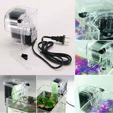 Aquarium Power Filter Waterfall Water Pump Fish Tank Hang On Slim Filter Mini