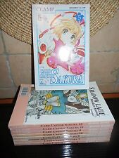 CARD CAPTOR SAKURA - Manga -collezione incompleta CLAMP Vol. 5 6 7 8 9 10 11 12
