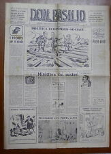 DON BASILIO 22 gennaio 1950 Costa Qualunquismo Storia segreta Conclavi FIDE di e
