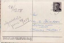 CSSR Tschechoslowakei Postkarte Nr. 153 gest. Gottwald -2 Kinderzeichnung Ostern