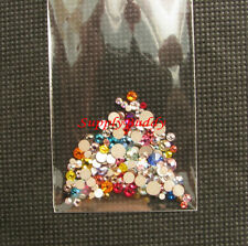 144 Nail Art Multi-Sized & Multi-Colored Swarovski Crystal Rhinestones #S196