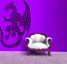 Wall Room Decor Art Vinyl Sticker Mural Decal Tribal Monster Dragon Draco FI657
