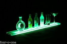 "36"" Liquor Bottle Display Shot Glass Bar Shelf W/ Multi Color LED Lights Merging"