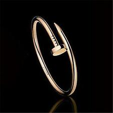 fashion style inspired design Stainless Steel Cuff Bangle Screw Nail Bracelet BK