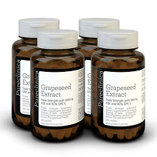 4x Grape Seed Extract - 300mg x 720 tablets - 90% Oligomeric Proanthocyanidins