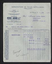 """SAINT-ETIENNE (42) USINE de TOILES METALLIQUES """"PREVOST , GUINAND & Cie"""" en 1934"""