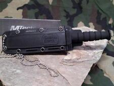"""MTech Tactical Combat Neck Knife Black Survival 6"""" Drop Point w/ Sheath 632DB"""
