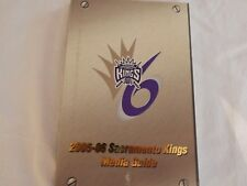 Sacramento Kings 2005-06 MEDIA GUIDE!! NEW! NEVER OPENED!!