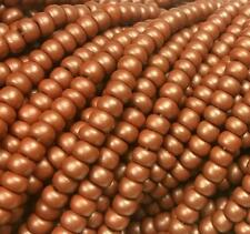 "Czech Glass Seed Beads Size 6/0 "" PEARL RUSTY COPPER  MATTE  "" Strands"