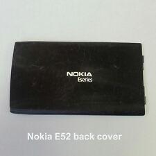 100% Genuine Nokia E52 Mobile Phone Back Battery Cover Fascia Housing - Black