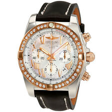 Breitling Chronomat 44 Mother of Pearl Dial Diamond Automatic Mens Watch