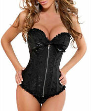 2016 New Fashion Sexy Boned Corset Bustier Basque+Lingerie/Thong Outfit S-6XL