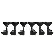Guitar Tuning Pegs Machine Heads Tuning Keys For Electric 6 String Bass Black