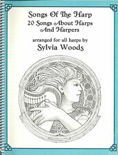 Songs of the Harp by Sylvia Woods ~ 20 Welsh Irish songs folk HARPS sheet music