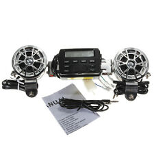 12V Stereo Motorcycle Speakers Sound Audio System Handlebar FM Radio MP3 IPOD SD